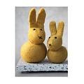Én Gry & Sif twee gele handgemaakt vilten Paashazen