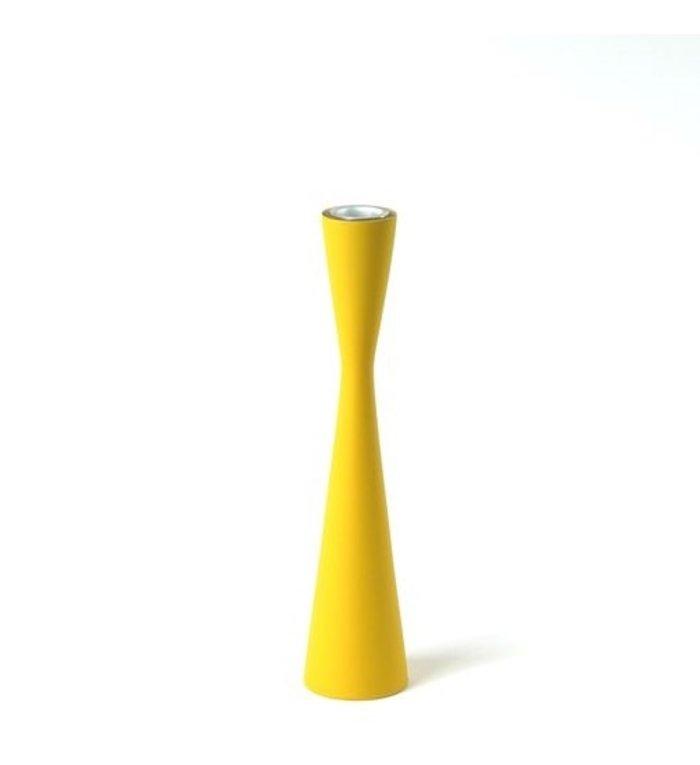 Kinta Gele Kandelaar Zandloper 25 cm