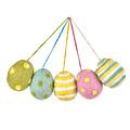 Felt so good Set van vijf vilten paasei hangertjes in pastelkleuren en verschillende motieven