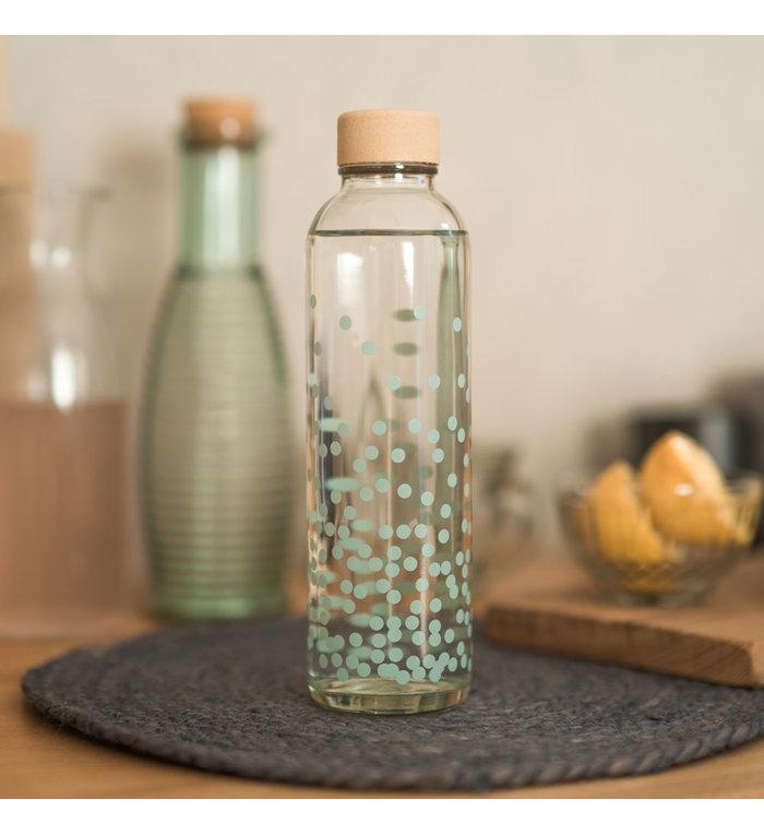 Carry Bottles Glazen Drinkfles Pure Happiness 0.7 liter