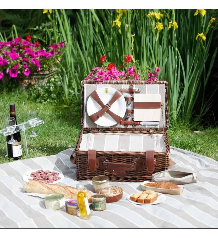 Les Jardins de la Comtesse complete picknickmand voor 2 personen Normandië