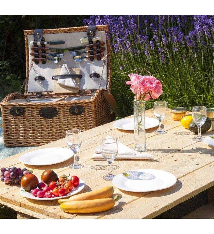 Les Jardins de la Comtesse complete picknickmand voor vier personen Bourgogne