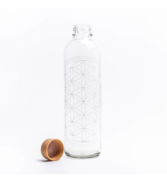 Carry Bottles Glazen Drinkfles Flower of Life 1.0 liter