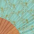 Vent de Bohème  turquoise hand waaier Tropical