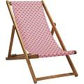 Vent de Bohème  tuinstoel - ligstoel - strandstoel van acaciahout met Nour Rose design