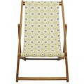 Vent de Bohème  tuinstoel - ligstoel - strandstoel van acaciahout met Lou Jaune design