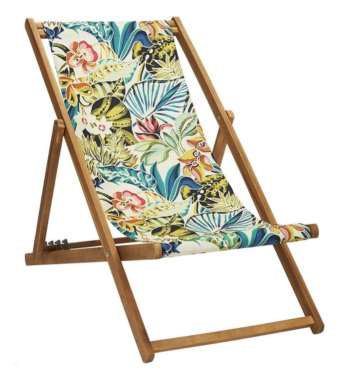Vent de Bohème  tuinstoel - ligstoel - strandstoel van acaciahout met tropisch Bamboo design