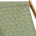 Vent de Bohème  tuinstoel - ligstoel - strandstoel van acaciahout met tropisch goudgeel design