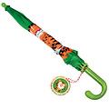 Rex London groene paraplu voor kinderen met stoere tijger Teddy