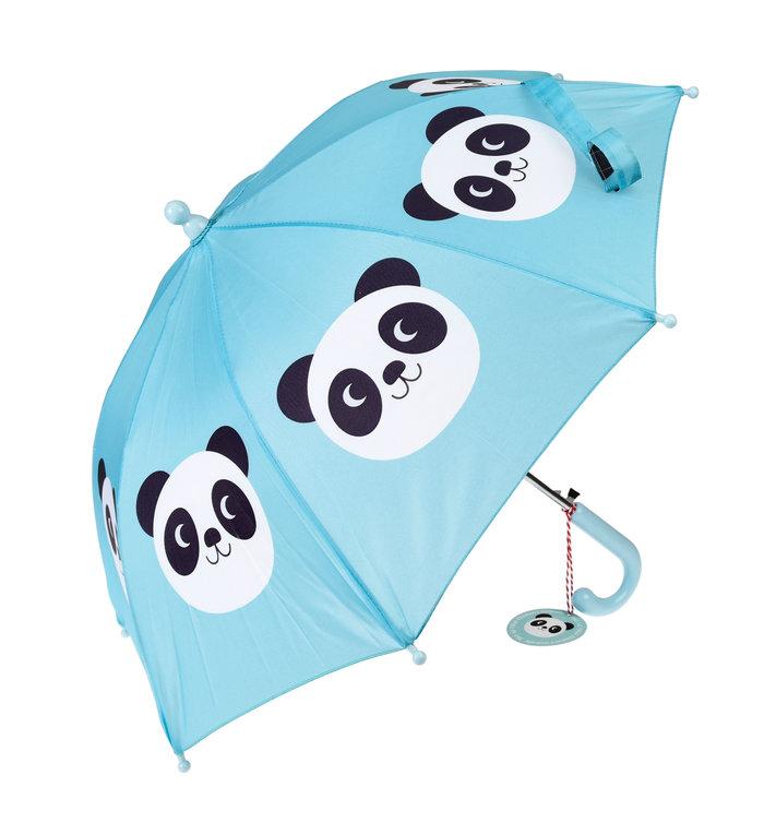 Rex London blauwe paraplu voor kinderen met leuke pandabeer Miko