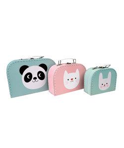 Set van 3 Koffertjes - Miko en Vriendjes