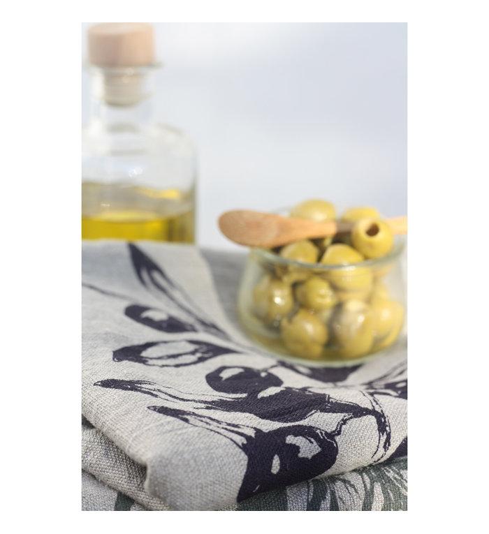 Frohstoff linnen theedoek met olijven motief