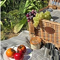 Les Jardins de la Comtesse beige wit geruit picknickkleed 140 x 140 cm