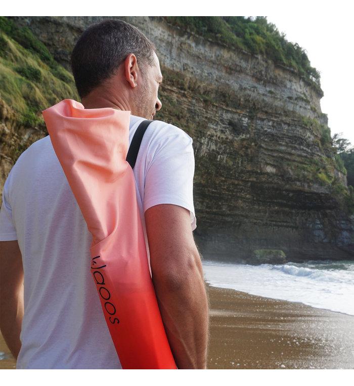 Klaoos Parasol voor het strand Psyché in watermeloen rood