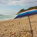 Klaoos Parasol voor het strand Psyché in poeder roze