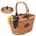 Les Jardins de la Comtesse geïsoleerde lege picknickmand rood ruitje - kan bevestigd worden aan de fiets