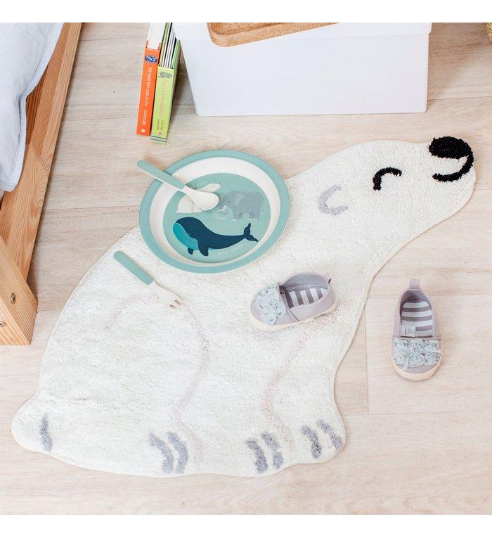 Sass & Belle Vloerkleedje Nanook de ijsbeer uit de Bedreigde Diersoorten collectie van Sass & Belle