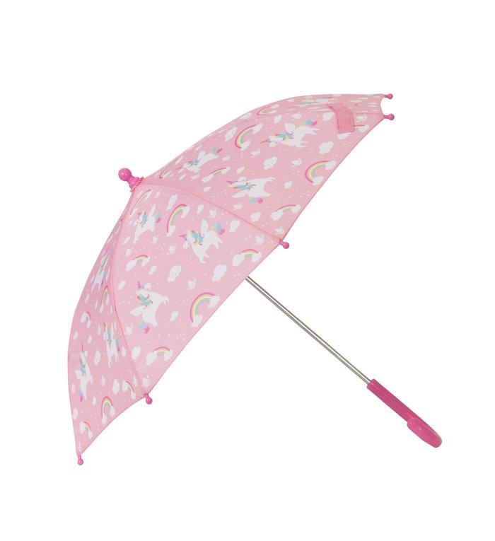 Sass & Belle  eenhoorn kinder paraplu uit de Rainbow Unicorn collectie