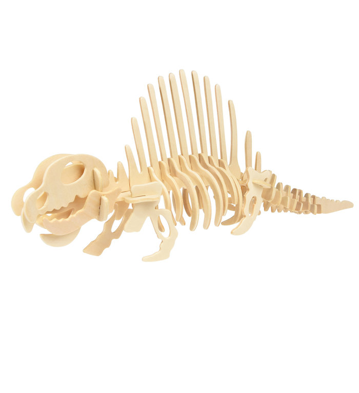 Rex London stoere houten 3D puzzel Dimetrodon dinosaurus