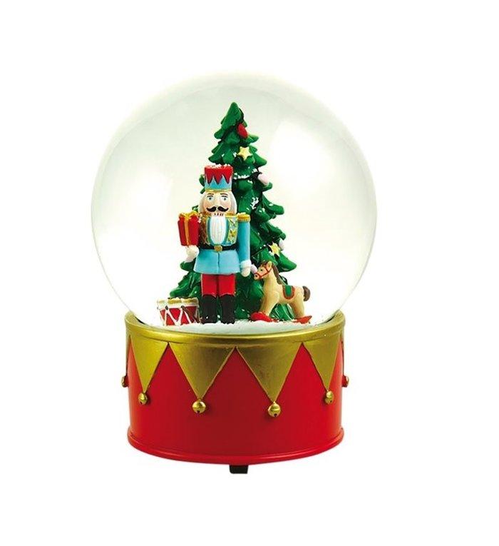Kerst Speeldoos met sneeuwbol Notenkraker