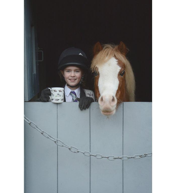 Sophie Allport porseleinen spring paarden mok  275 ml