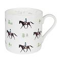 Sophie Allport porseleinen mok met paarden in draf  275 ml