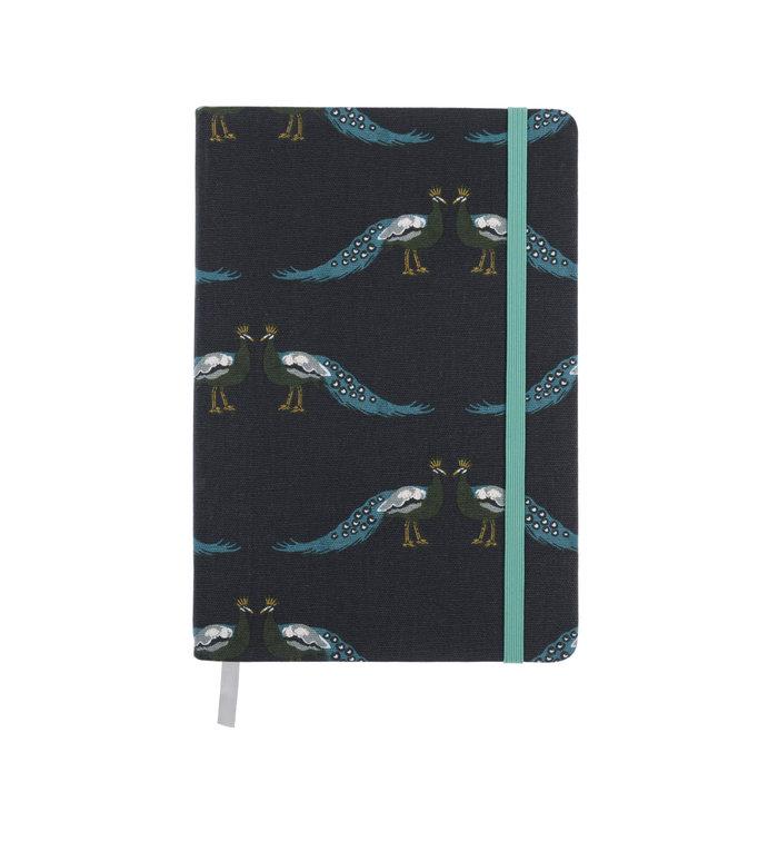 Sophie Allport stijlvol notitieboekje met pauwen A5 formaat