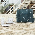 Sophie Allport picknick koeltas met kust vogels patroon