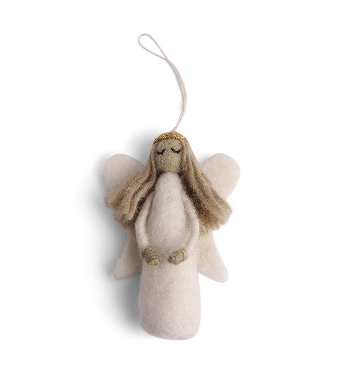 Én Gry & Sif Engel vilten kerstboomhanger 10 cm