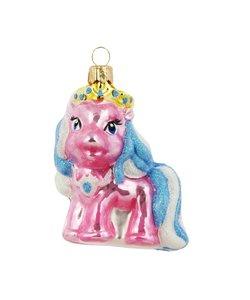 Roze Pony Kersthanger 7 cm