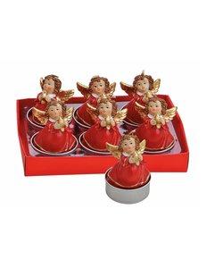 Engeltjes met Ster Waxinelichtjes - set van 6 kaarsjes