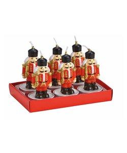 Notenkraker Waxinelichtjes - set van 6 kaarsjes
