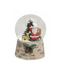 Kerstman Muziekdoos met Sneeuwbol