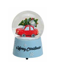 Kerstauto Muziekdoosje met Sneeuwbol