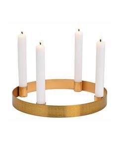 Ronde Gouden Kandelaar Advent
