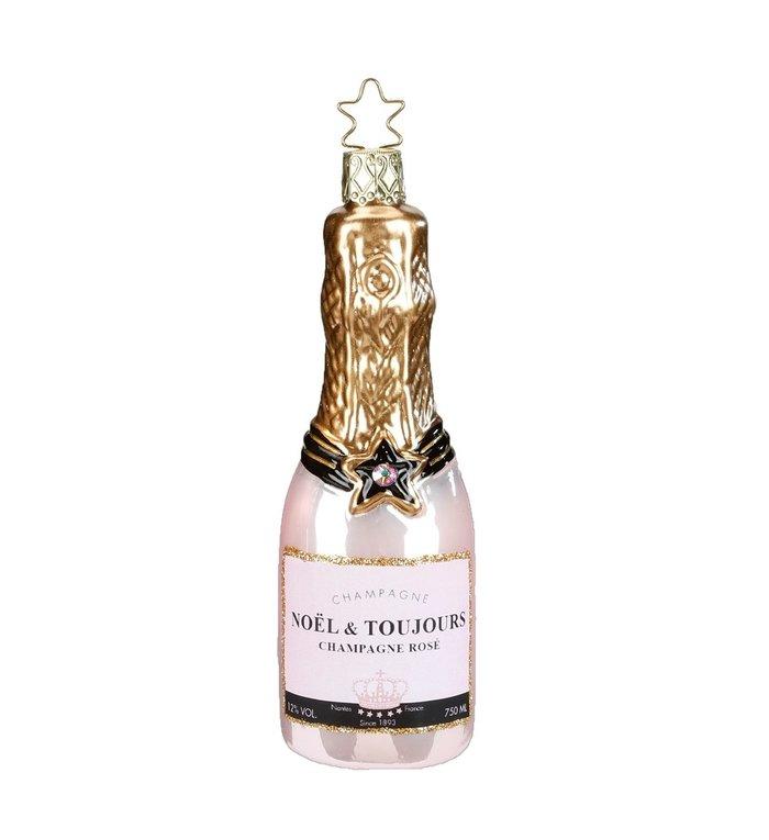 Kerstboomhanger fles Rose Champagne 12,5 cm