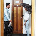 Klaoos ebbenhout zwarte Paraplu Stella