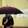 Klaoos paraplu Roze Nevel