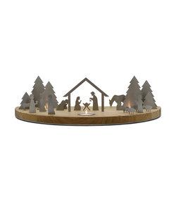 Silhouette L Kerststal Eikenhout