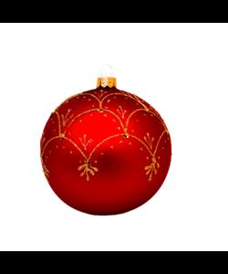Rode Kerstballen met Chique Gouden Decoratie