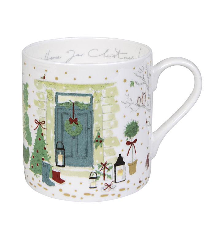 Sophie Allport porseleinen mok Kerstfeest - kerstbeker 275 ml