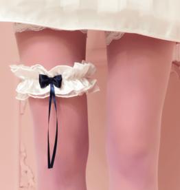 Trasparenze Kousenband - Wit donkerblauw