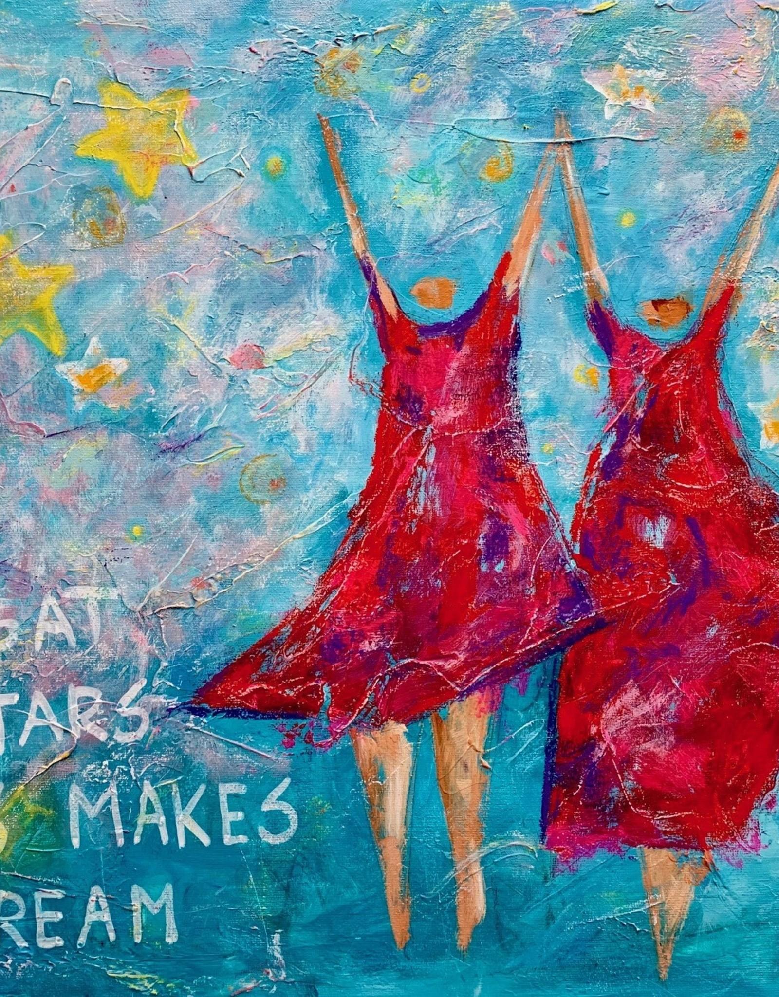 Schilderij - Looking at the stars