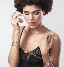 Bijoux Indiscrets Désir Métallique - Metallic mesh handcuffs - Goud