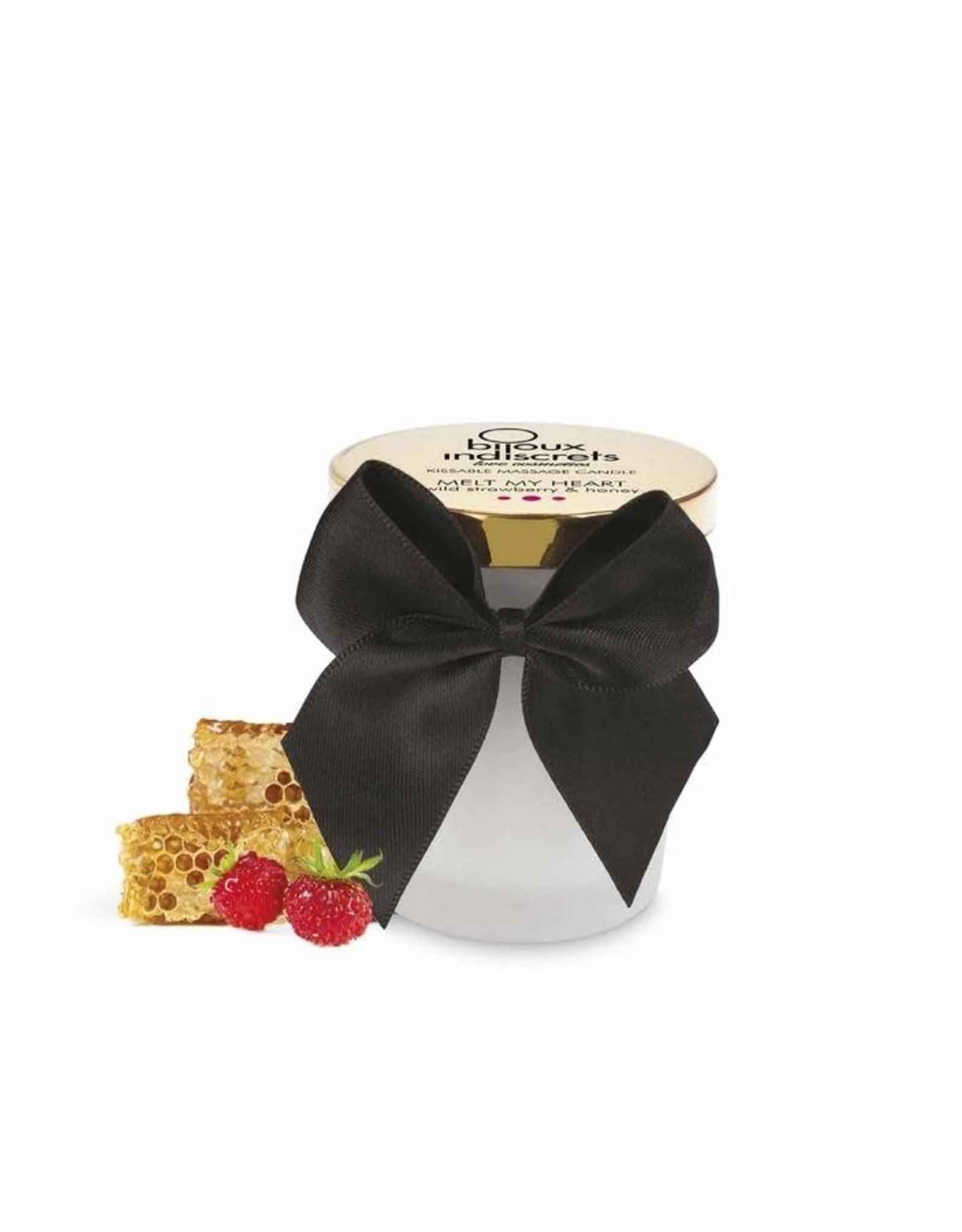 Bijoux Indiscrets Melt my heart - Kissable massage candle - Wild Strawberry & Honey
