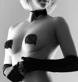 Bijoux Indiscrets Burlesque Glitter & Satin Pasties - Zwart