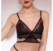 The Oxblood collection - Longline bralette