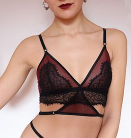 Lunar Laces The Oxblood collection - Longline bralette