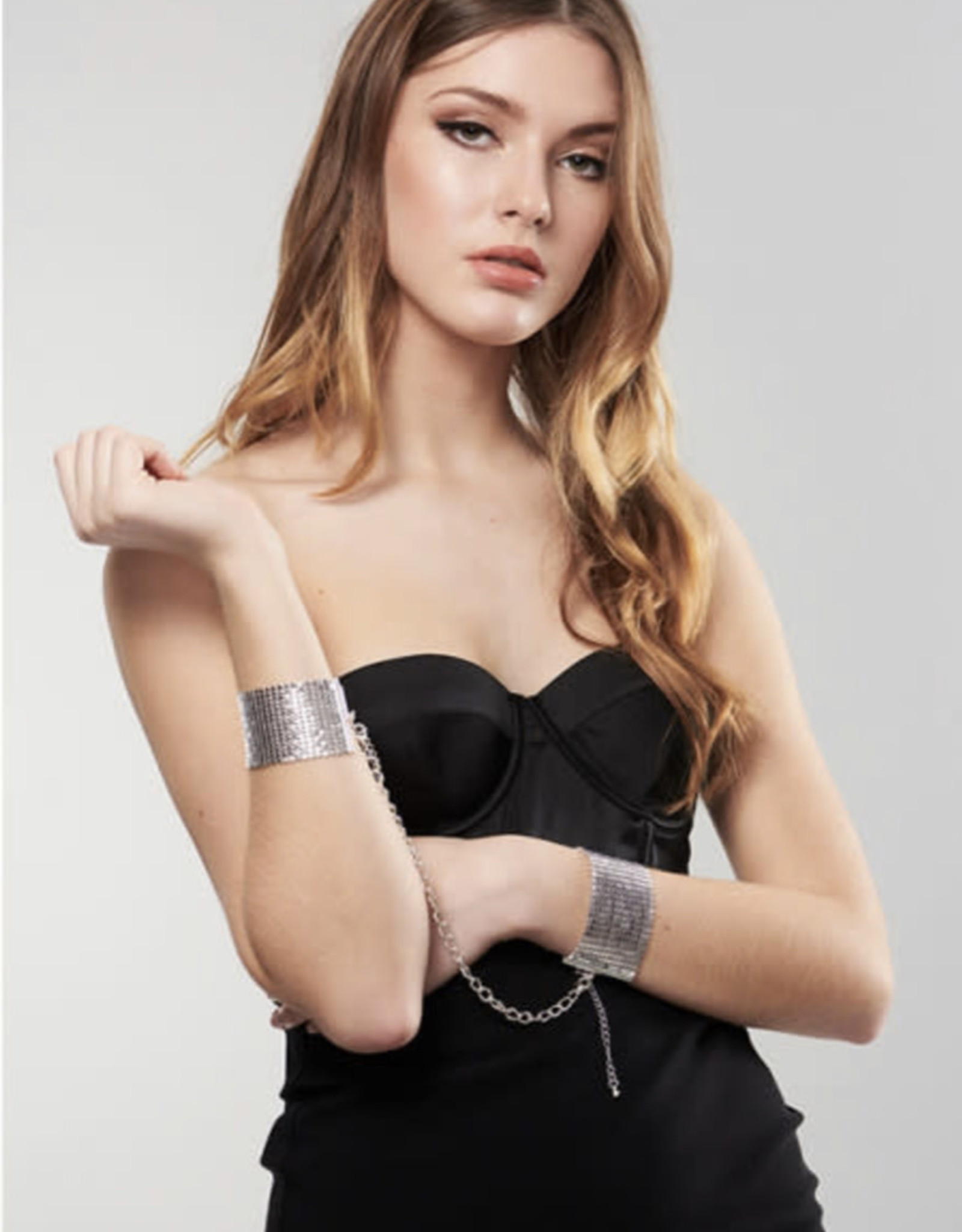 Bijoux Indiscrets Désir Métallique - Metallic mesh handcuffs - Zilver
