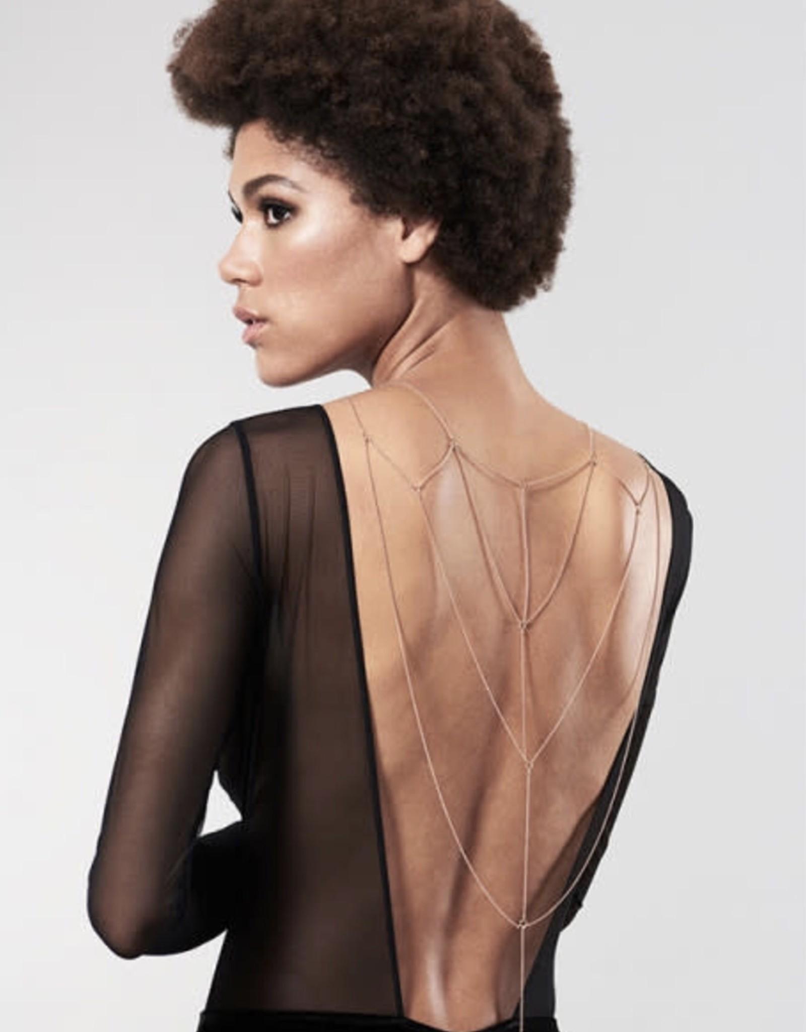 Bijoux Indiscrets Magnifique - Metallic chain Back and Cleavage Jewelry
